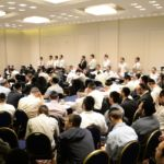 YK15 Day 3 Rav Binyomin Moskowitz with partial crowd