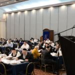 YK15 Day 4 Rav Avrohom Yakov Cohen with partial crowd