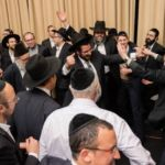 A partial view of the crowd dancing A partial view of the Dais at the Montreal Kollel Avreichim Siyum HaShas