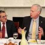 Chairman of the Board of Trustees, Shlomo Werdiger, and Senator Ron Johnson