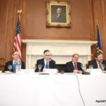 Rabbi Labish Becker, Executive Director, Rabbi Shlomo Gertzulin, Executive Vice President for Finance & Administration, Rabbi Chaim Dovid Zwiebel, Executive Vice President, Reb