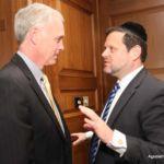 Senator Johnson and Chaskel Bennett