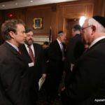 Senator Rand Paul, Rabbi Abba Cohen, Chaim Leshkowitz, Rabbi Ariel Sadwin