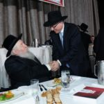 Novominsker Rebbe and Rabbi Yosef Chaim Golding, Chief Operating Officer, Agudath Israel
