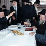Novominsker Rebbe, Rabbi Chaim Boruch Gluck and his son, Zvi