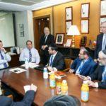 From the Left Rabbi Shmuel Lefkowitz, Shimi Pellman, Assemblyman Cusick, Assemblyman Michael Simanowitz, Rabbi Labish Becker, Chaskel Bennett, Rabbi Yosef Chaim Golding (standing), Rabbi Chaim Dovid Zwiebel