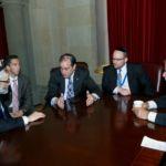 Rabbi Chaim Dovid Ziwebel, Assemblyman Phillip Goldfeder, Assemblyman Steven Cymbrowitz, Rabbi Boruch Rothman, Assemblyman Dov Hikind