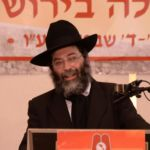 Harav Gershon Meltzer, giving final halacha shiur of the 16th Aguda Yarchei Kallah
