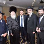 L to R Benny Fishoff, Rabbi Yaakov Litzman, Chaskel Bennett, Rabbi Chaim Dovid Zwiebel, Rabbi Moshe Matz