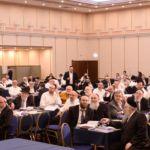 Partial view of the participants at Rav Matisyahu Deutsch halacha shiur on day 4 of the Aguda Yerusholayim Yarchei Kallah