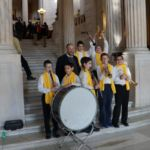 Providence Hebrew Day School students perform at the Rhode Island State House during the RI National School Choice Week Celebration