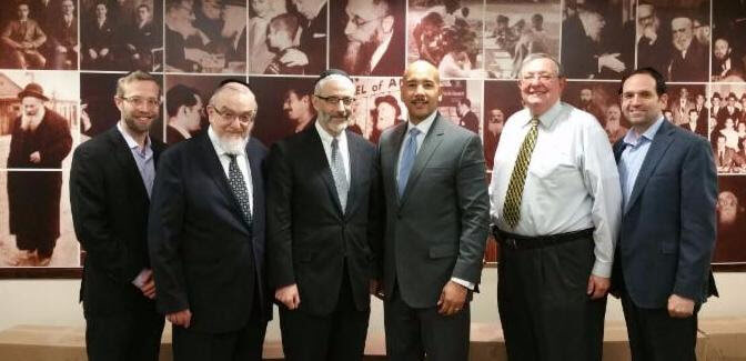 Mr. Raphael Weiss; Rabbi Shmuel Lefkowitz, vice president of community services for Agudath Israel of America;  Rabbi Chaim Dovid Zwiebel, executive vice president of Agudath Israel of America;  Bronx Boro President, Ruben Diaz Jr; Mr. Shimi Pelman; Mr. Yossi Snyder