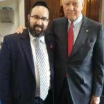 Rabbi Ariel Sadwin with Senator Orrin Hatch (R-UT) at the Jewish American Heritage Celebration on Capitol Hill