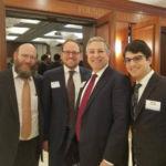 Rabbi Avrohom Adler, Aaron Sonnenschein, Cuyahoga County Executive Armond Budish, Rabbi Yitz Frank
