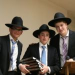 Prize winner with Shmuel Kagan and Mordechai Joseph.