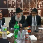 Rabbi Chanoch Zeibert, Mayor of Bnei Brak, Visits Agudath Israel Headquarters1
