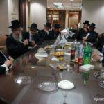 Rabbi Chanoch Zeibert, Mayor of Bnei Brak, Visits Agudath Israel Headquarters3