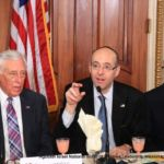 Howard Tzvi Friedman introducing House Democratic Whip Steny Hoyer