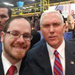 Rabbi A.D. Motzen and Vice President Mike Pence
