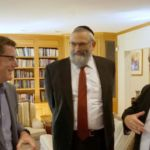 Dr. Jonathan Lucas, Chief Medical Examiner - Coroner, LA County, Dr. Irving Lebovics, Chairman, Agudah of California, Rabbi Heshy Ten, LA Bikur Cholim