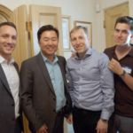 Justin Orenstein from Mr. Ryu\'s office, David Ryu, Avi Mayer, Dovid Guidry, Ari Mayer