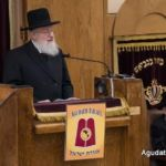 Rabbi Moshe Heinemann, rov of Agudath Israel of Baltimore, speaking...
