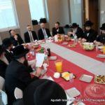 At head of table- Mr. Hershel Werthheimer, Rabbi Chaim Dovid Zwiebel, Rabbi Yeruchim Silber, Rabbi Avi Greenstein