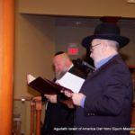 Mr. Shmuel Moskowitz and R\\\' Bernie Moskowitz saying the kaddish