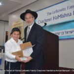 Rabbi Mandel and a prizewinner