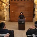 Meeting at the Kosel with Rabbi Shmuel Rabinovitch, Official Rabbi for all of Israel\'s Holy Sites