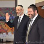 Rabbi Chaim Dovid Zwiebel with Rabbi Feivi Arnstein