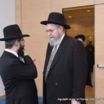 Rabbi Moshe Matz, Executive Director, Agudath Israel of Florida (Left), speaking with Rabbi Sheftel Neuberger, President and Menahel, Yeshivas Ner Yisroel of Baltimore