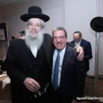 Rabbi Yaakov Litzman (United Torah Judaism) with Shlomo Werdiger, Co-Chairmen of the Mission