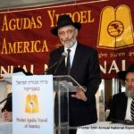 Rabbi Chaim Dovid Zwiebel, Executive Vice President, Agudath Israel of America, delivering greetings from AIA