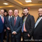 David Gross, Assemblyman Gary Schaer, Speaker Craig Coughlin, Moshe Gross and Rabbi Avi Schnall