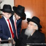 Greeting Rabbi Aharon Schachter