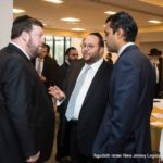Rabbi Avraham Krawiec, Rabbi Avi Schnall and Senator Vin Gopal