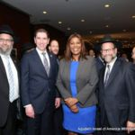 Rabbi Yeruchim Silber, Councilman Chaim Deutsch, NYS Public Advocate Letitia James, Leon Goldenberg