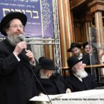 HaRav Eliyahu Mann Giving Over the Brocha of Maran Harav Kanievsky