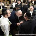 HaRav Moshe Aron Friedman with Participants After the Shiur