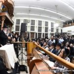 Partial view of the crowd at Lederman Shul