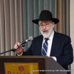 Rabbi Gedaliah Weinberger, Chairman of the Daf Yomi Commission, being mesayem Meseches Avodah Zarah
