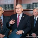 Assemblymembers Joe Lentol, Steven Cymbrowitz and Peter J. Abbate