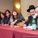 Baila Agishtein, Rivkie Feiner, Leah Zagelbaum, Agudah\\\'s Communications Director, Chanie Jacobowitz, Moshe Melamed, and Rabbi Yeruchim Silber