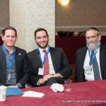 Matthew Kest, Rabbi Yisrael Gelb, Director, Agudath Israel of California, and Dr. Irving Lebovics
