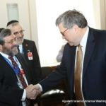 Rabbi Abba Cohen, Vice President for Government Affairs and Washington Director and Counsel, with U.S. Attorney General William Barr