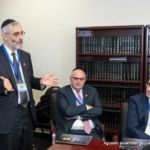 Rabbi Chaim Dovid Zwiebel, Agudah\'s Executive Vice President, Abe Schlisselfeld, Sponsor of Albany Day, and Rabbi Dovid Kramer of Yeshiva of South Shore