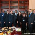 Rabbi Yeruchim Silber, Director, New York Government Relations, Assemblymembers Al Tayler and Simcha Eichenstein...