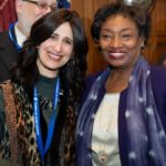 Senate Majority Leader Andrea Stewart-Cousins with Mrs. Tsivia Yanofsky, School Principal of Manhattan High School for Girls