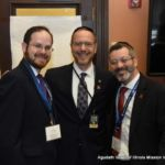 Rabbi A.D. Motzen, Agudath Israel\'s National Director for State Relations, Representative Yehiel M. Kalish, and Rabbi Shlomo Soroka, Director of Government Affairs, Agudath Israel of Illinois